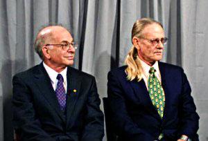 Yes, Vernon L. Smith rocks a ponytail.